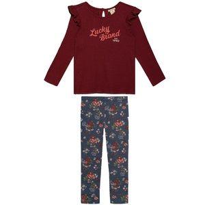⏰LAST CHANCE⏰ Lucky Brand Ruffle Shirt & Leggings